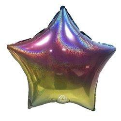 """Foil Star, Rainboow Glitter 18"""" (45cm.)"""