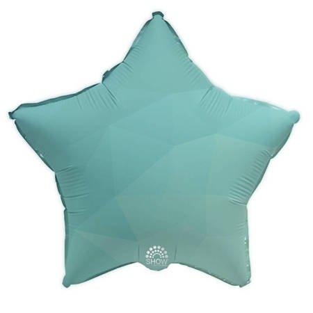 """Foil Star, Aquamarine Gradient 18"""" (45cm.)"""