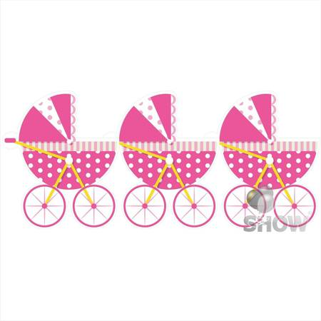 """Paper Garland """"Baby Carriage"""" (1pack.)"""