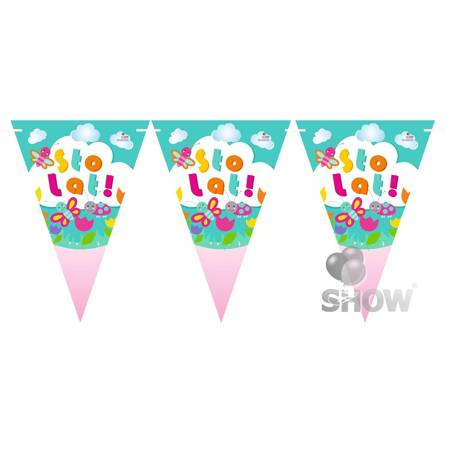 """Paper Garland """"Sto Lat"""" (1pack.)"""