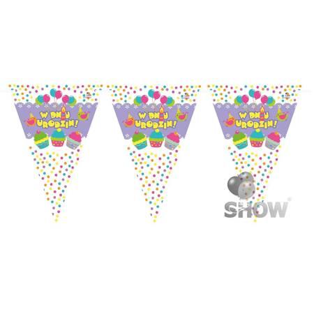"""Paper Garland """"W Dniu Urodzin"""" (1pack.)"""