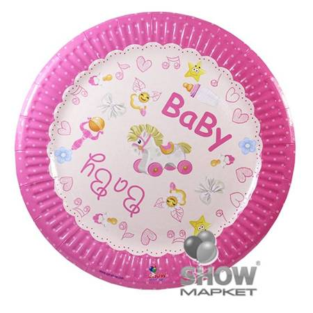 """Paper Plate """"Baby Girl"""" (6 pcs.)"""