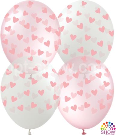 """SHOW™ 12"""" """"Pink Hearts"""" (10 pcs.)"""