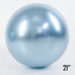 """Balon  21"""" CHROME,  Błękitny (1 szt.)"""