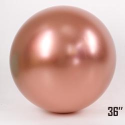 """Balon  36"""" CHROME,   Różowe złoto  (1 szt.)"""