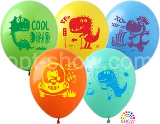 """Balony 12""""  """"Dino"""" (10 szt.)"""