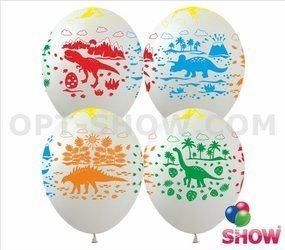 """Balony 12""""  """"Dinozaury"""" (10 szt.)"""