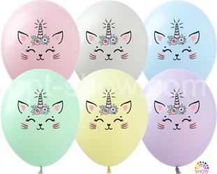 """Balony  """"Kotek-Jednorożec"""" (10 szt.)"""