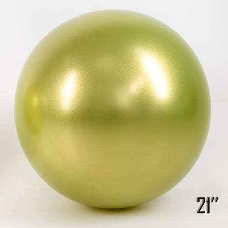 """Balon  21"""" CHROME,  Fistaszkowy (1 szt.)"""