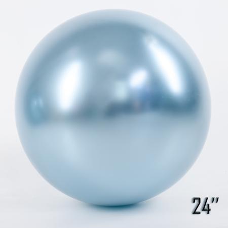 """Balon  24"""" CHROME,  Błękitny (1 szt.)"""