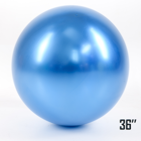 """Balon  36"""" CHROME,  Niebieski (1 szt.)"""