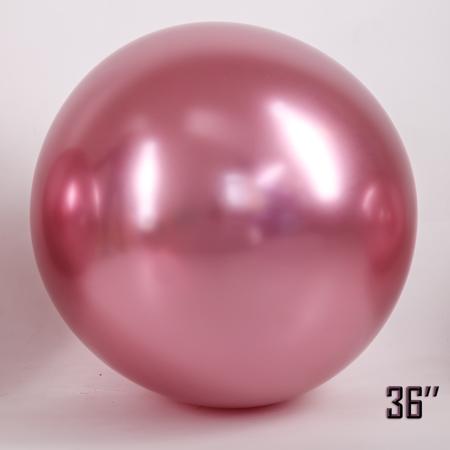 "Balon  36"" CHROME,   Różowy (1 szt.)"