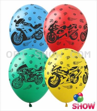 "Balony 12""  ""Motory"" (10 szt.)"