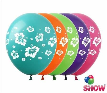 """Balony  """"Hawajskie Kwiaty"""" (10 szt.)"""