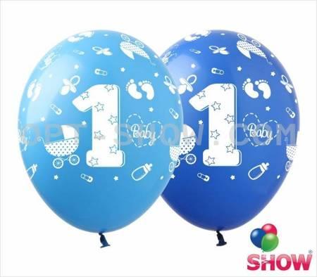 """Balony """"Pierwsze Urodziny"""" (10 szt.)"""