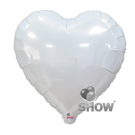 "Serce Foliowe Białe 18"" (45cm.)"